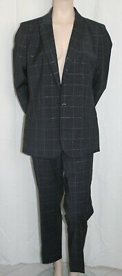 Banana Republic Dark Gray Striped Pant Suit Career Jacket Sz 16T Pants Sz 14 NWT