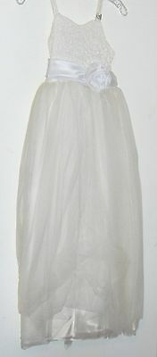 Evening, Cocktail  Dress, white - very fancy - flower girl/cruise/prom size S (Very Fancy Flower Girl Dresses)