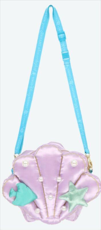 Tokyo Disney Resort Ariel Shoulder Bag The Little Mermaid Shellfish Shape New