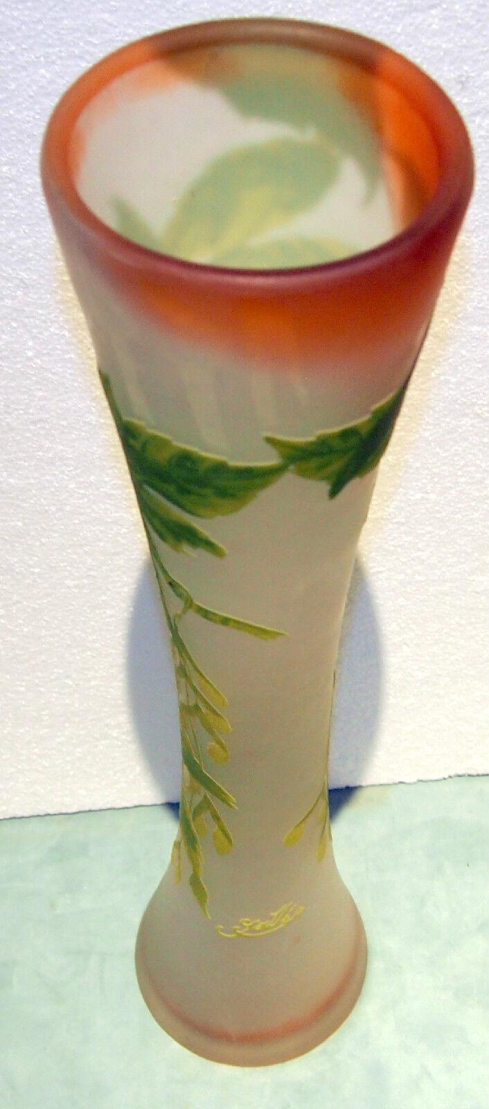 emile galle c 1910 original cameo glass grand vase design heigth 22 5 15 picclick uk. Black Bedroom Furniture Sets. Home Design Ideas
