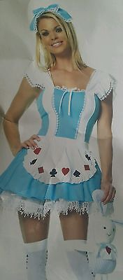 FLASH SALE》Women's Alice in Wonderland》ALICE GIRL HALLOWEEN COSTUME》L 12-14](Female Flash Halloween Costume)