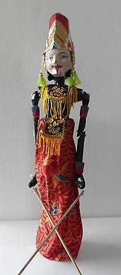 1 Holz Puppe Wayang Golek Marionette Handgefertigt auf Bali NMSG17
