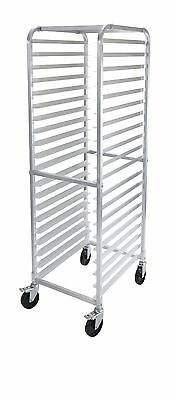 Winco Alrk-20bk 20-tier Aluminum Rack With Brake Nsf Ea