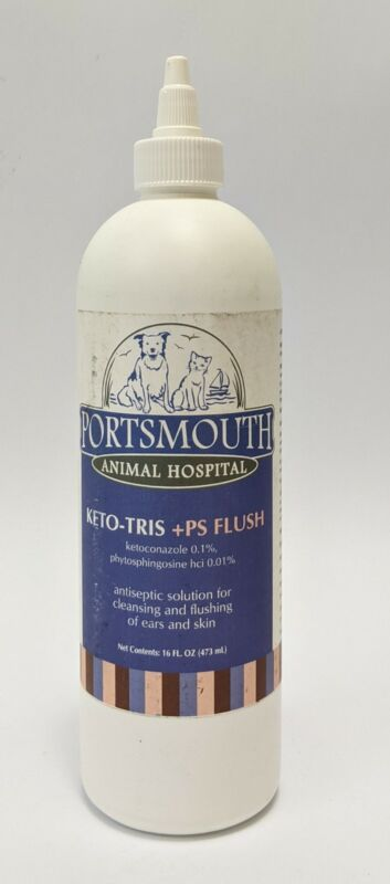 Portsmouth Pets Antiseptic Solution for Cleansing and Flush of Ears and Skin