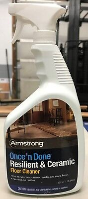 Armstrong Once 'n Done Resilient & Ceramic Floor Cleaner 32 oz. Spray  Resilient Floor Cleaner