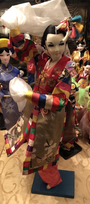 """VTG 20"""" Handcrafted Korean Dancer Doll"""
