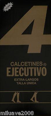 6 pares calcetines EJECUTIVO (Berkshire) extra largos Helanca 70 deniers. negro
