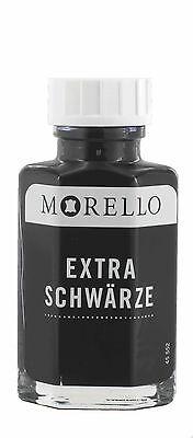 (13,36€/100ml) Lederfarbe Morello EXTRA SCHWÄRZE schwarz matt 50 ml ()