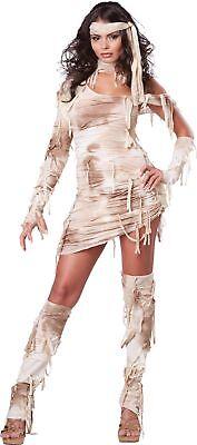 Mystisch Mumie Erwachsene Damen Kostüm Antike Sexy Kleid Halloween