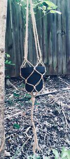 Macrame pot hanger Yeronga Brisbane South West Preview