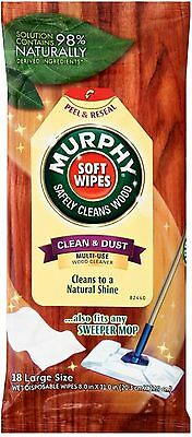 Murphy Disposable Soft Wipes Multi-Use Wood Cleaner, Large 18 ea
