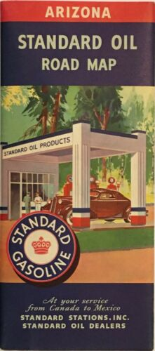 1939 Standard Oil Road Map: Arizona NOS