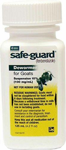 Safeguard Goat Dewormer  125ml (wormer)   FREE SHIPPING