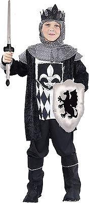 Kostüm edler König + aufblasbares Schild Schwert Gr.122/134 Mittelalter Krieger  (Mittelalter Krieger Kostüm)