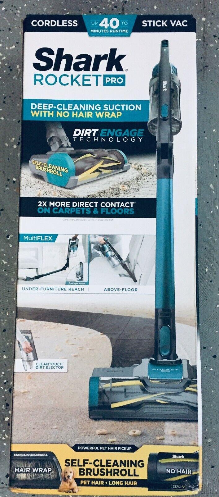 Shark Rocket Pro Cordless Stick Vac Vacuum IZ140 blue FAST F