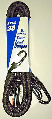 Black Bungee Cords - Ancra 95739 Twin Lead Bungee Cords, Black 2-Pack 36-Inch