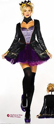 Leg Avenue Evil Queen Sexy Halloween Costume Cosplay Dress Small Medium 85011