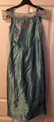 Gorgeous Girls Frozen Elsa Anna Dress & Cape Age 7 - 8 Years BNWT Dress up £15 ()