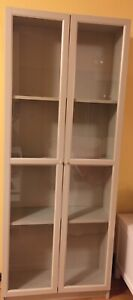 Billy Bookcase With Oxberg Glass Doors