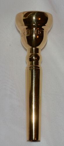 60s SCHILKE 15  trumpet mouthpiece 24 throat GOLD PLATE