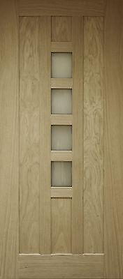 Oak External Front Door Newton Contemporary 4 Light 78x33 (1981x838x45mm)