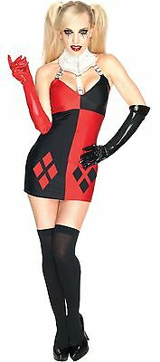Damen Sexy Harley Quinn Batman Bösewicht Halloween Kostüm - Rote Bösewicht Kostüme