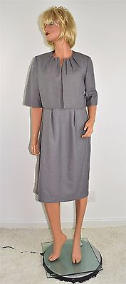 NWT CALVIN KLEIN Gray Spring Summer Career Dress & Jacket Suit Outfit Size 12