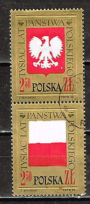 'Poland Cpuntry Flag Oil Coat of Arm Eagle stamps 1966