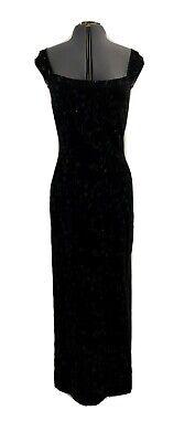 Roberta Di Camerino rare vintage 1970's Black stretch velvet backless gown