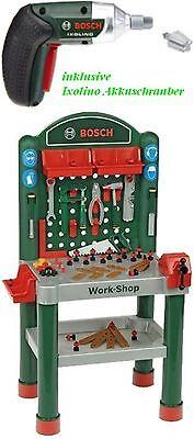 Theo Klein 8314 wie 8320 Bosch Work Shop große Werkbank 100 cm 75 tlg Zubehör