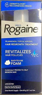 Men's Rogaine 5% Minoxidil Foam for Hair Loss, 1-Month Supply Exp. 2022+