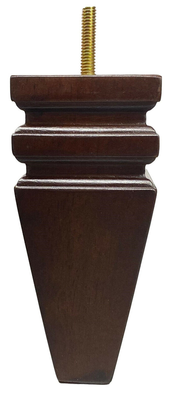 6″ Carved Squared Walnut Tapered Pyramid Sofa/Couch/Chair Wood Legs – Set of 4 Furniture