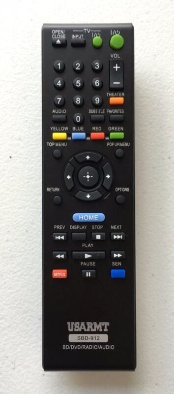 New Usbrmt Blu-ray Dvd Player Remote Sbd-912 For Sony Bdp-s570 Bdp-s470 Bdp-s270