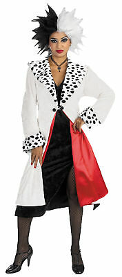 Cruella Prestige Adult Womens Costume Disney Villain Dalmatians Halloween Dress - Halloween Costumes Disney Villains