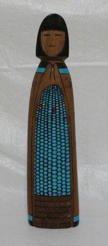 Zuni Kachina Doll Corn Maiden Wooden Figure Wood