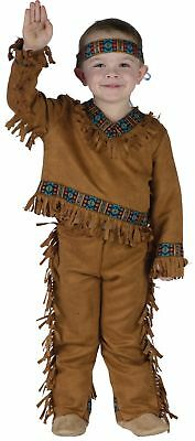 American Indian Boy Toddler Child Costume Chief Native Sioux Apache Halloween