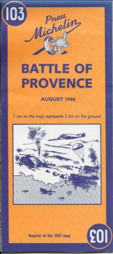 Michelin, Battle of Provence Map No. 103, France