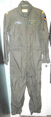 U.S. Named General's Vietnam Era CWU-27/P Nomex Flight Suit w/ Wings in 38 Reg