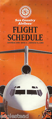 Airline Timetable   Sun Country   01 06 99   Us