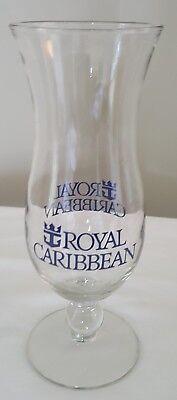 Royal Caribbean Cruise Line Cocktail Hurricane Glass Blue Anchor Logo Stem