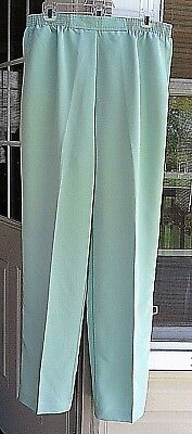 ALFRED DUNNER MINT GREEN CASUAL PANTS ~