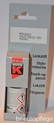 Lackstift AUTO K, MERCEDES CALCITWEISS 650 1-Schicht-Lack,Pinsel,9ml, NEU,KWASNY