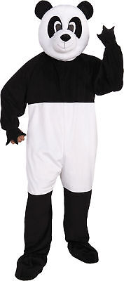 Panda Mascot Adult Mens Costume Bear Nature Animal Black White Halloween