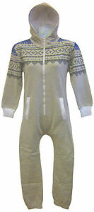 Kids-Unisex-Onesie-Hoody-Hooded-All-In-One-Piece-Jumpsuit-Sizes-7-13-years