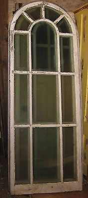 Huge Arched Top Double Pane Decorative Vintage Window Architectural Salvage