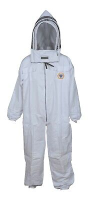 Beekeeping Suit Cotton Breathable W Removable Hat Free Carrying Bag Large