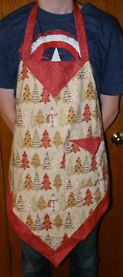 NEW Adult APRON Party HOSTESS Christmas Trees SNOWMAN Gifts HANDMADE Stocking ()