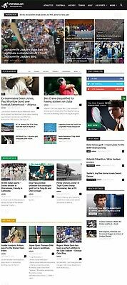 Automated Wordpress Sports News Website - Turnkey Profitable Site
