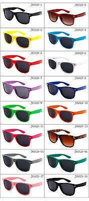 Nerd Brille Retro Hornbrillen Sonnenbrille Atzen Brille Bunt Farbe Wayfarer Stil