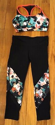Fabletics Outfit Set High Waisted Leggings And Matching Bra